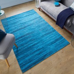 Manhattan Lenox chenille Blue Rug by Flair Rugs