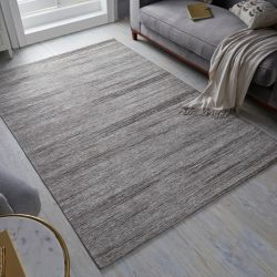 Manhattan Lenox chenille Grey Rug by Flair Rugs
