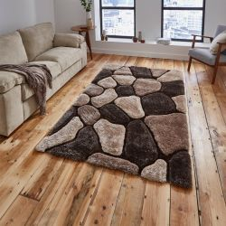 Noble House NH-5858 Beige/Brown Rug By Think Rugs 1