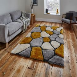 Noble House NH-5858 Grey/Yellow Rug By Think Rugs 1