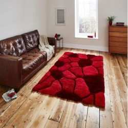 Noble House NH-5858 Red Rug By Think Rugs 1