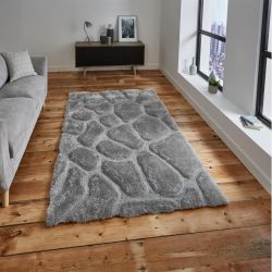 Noble House NH-5858 Silver Rug by Think Rugs 1