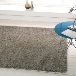 Nordic Cariboo Silver Plain Shaggy Rug By Flair Rugs