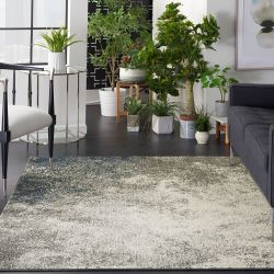 Passion PSN10 Charcoal Ivory Rug by Nourison