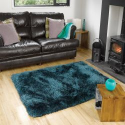 Pearl Teal Polyester Rug By Flair Rugs