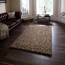 Pebbles Beige Wool Rug By Think Rugs