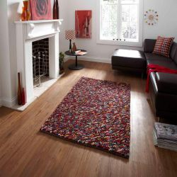 Pebbles Multi Wool Rug By Think Rugs