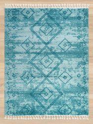 Royal Marrakech 3653a Light Blue Turquiose Shaggy Rug by Mastercraft
