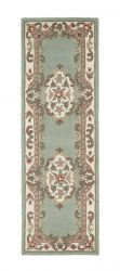 Shensi Green Traditional Runner by Rug Guru