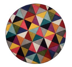 Spectrum Samba Multi Circle Rug by Flair Rugs