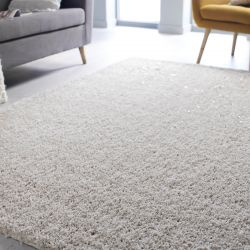 Veloce Ivory Shaggy Rug by Flair Rugs