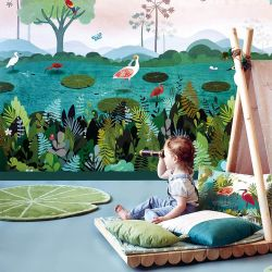 Villa Nova Lily Pad Jungle RG2032 Kids Rug by Louis De Poortere