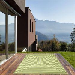 Vitaminic Braid Green Geometric Rug By Floorita 2