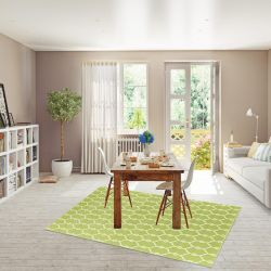 Vitaminic Trellis Green Geometric Rug By Floorita  1