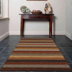 Woodstock 032 0743 1382 Brown Striped Rug by Mastercraft