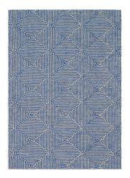 Zala Denim Geometric Rug by Claire Gaudion
