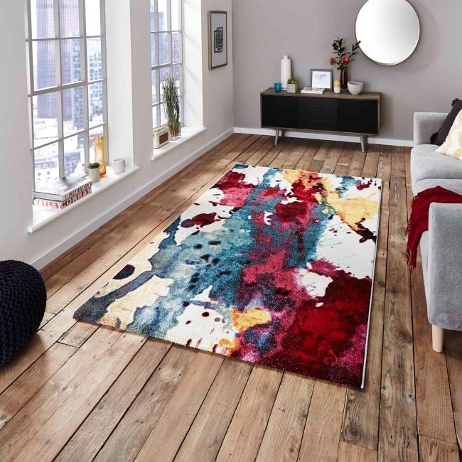 9349A Multi-coloured Designer Rug by Think Rugs - TheRugShopUK