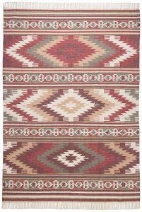 200 Kelim Colors I Red Vintage Wool Rug by Tom Tailor
