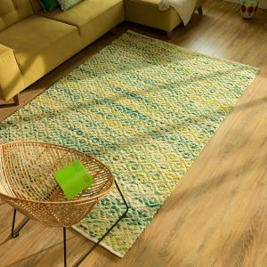 300 Diamond Green Smooth Comfort Wool Rug by Tom Tailor