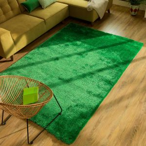 301 Green Soft UNI Shaggy Rug by Tom Tailor