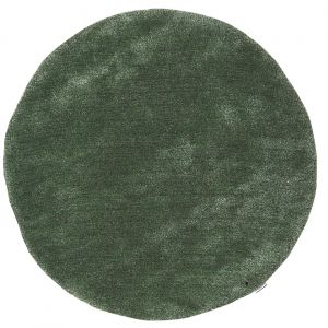 307 Light Green Soft UNI Shaggy Circle Rug by Tom Tailor