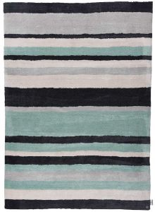 315 Powder Fashion Stripes Mint Multi Rug by Tom Tailor