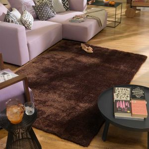 507 Light Brown Soft UNI Shaggy Rug by Tom Tailor