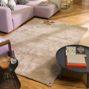 550 Beige Soft UNI Shaggy Rug by Tom Tailor