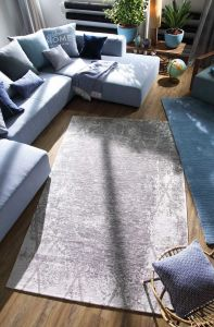640 Fine Lines Silver Rug by Tom Tailor