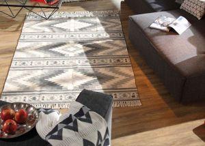 650 Kelim Colors I Grey Vintage Wool Rug by Tom Tailor