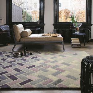 Agave Ash 57104 Grey Hand Tufted Wool Rug by Ted Baker