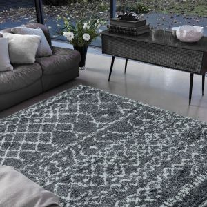 Alto AL05 Grey Cream Geometric Rug by Asiatic