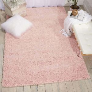 Nourison Amore AMOR1 Blush Pink Shaggy Rug