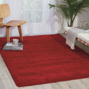 AMOR1 Nourison Amore AMOR1 Red Shaggy RugRed Shaggy Rug by Nourison