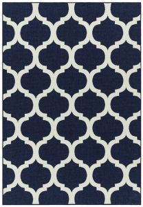 Antibes AN02 Blue Trellis Rug by Asiatic