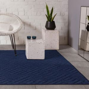 Antibes AN05 Blue Linear Rug by Asiatic