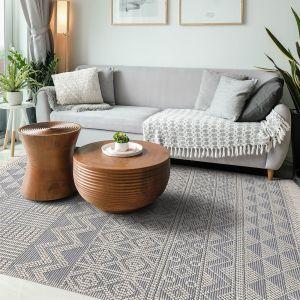 Anya 01 Ivory Slate Geometric Rug by Concept Looms