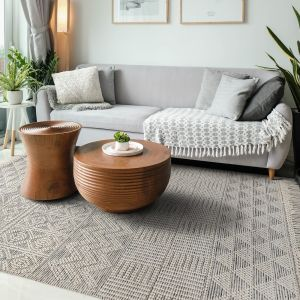 Anya 01 Natural Geometric Rug by Concept Looms