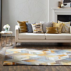 Arccos 040206 Ochre Handtufted wool Rug by Harlequin