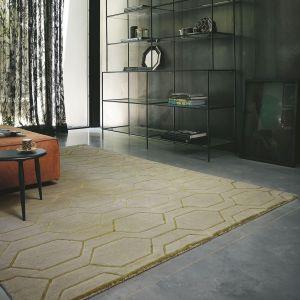 Arris 37304 Grey Geometric Hand Tufted Wool Rug by Wedgwood
