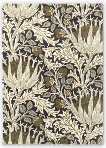 Artichoke 127105 Charcoal Mustard Floral Rug by Morris & Co.