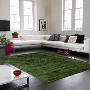 Blade Green Plain Rug by Asiatic