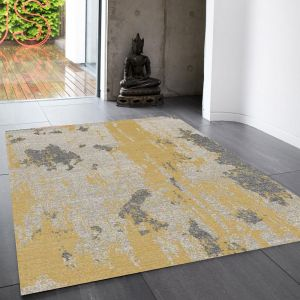Nova NV18 Painterly Yellow Rug by Asiatic
