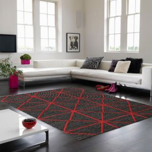 Prism Red Wool Rug by Asiatic