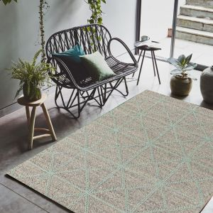 Prism Mint Wool Rug by Asiatic