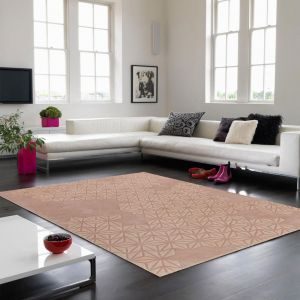 Starburst Pink Wool Rug by Asiatic