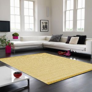 Knox Ochre Wool Rug by Asiatic