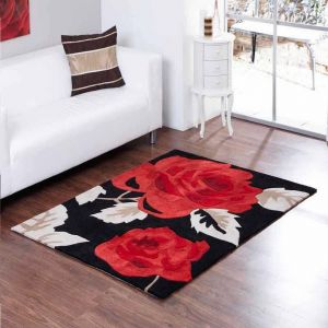 Aspire Zaire Red Black Rugs By Ultimate Rug 1