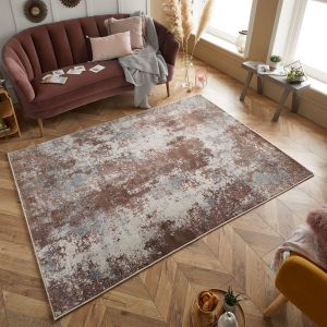Astro 5090 S Pink Grey Cream Abstract Rug by Oriental Weavers