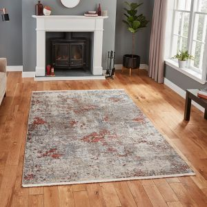 Athena 18597 Grey Terra Abstract Rug by Think Rugs